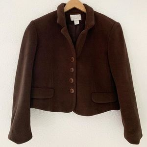 Vintage Thick Fleece Cropped Jacket